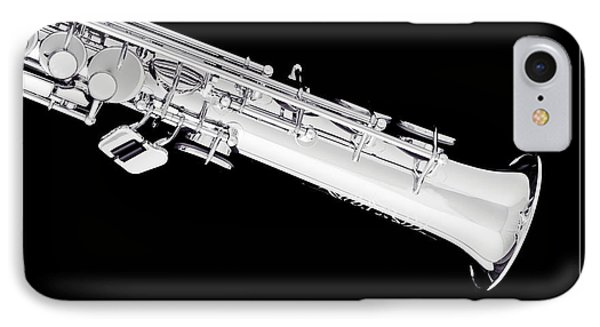 Soprano Saxophone Bell Photograph In Sepia 3343.01 IPhone Case by M K  Miller