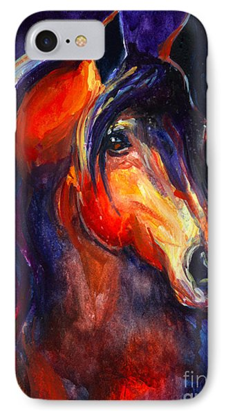 Soulful Horse Painting IPhone Case by Svetlana Novikova