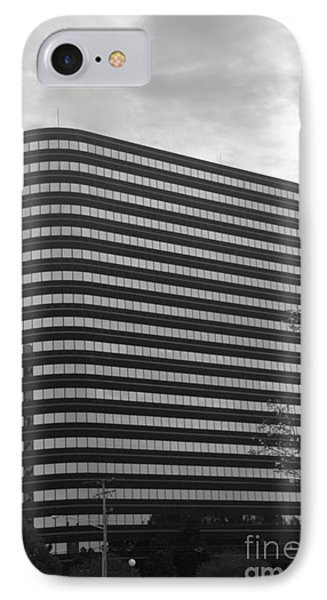 Soutfield Round Hi Rise Black And White Phone Case by Bill Woodstock