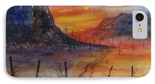 Southwest Sunrise IPhone Case by Don Hand