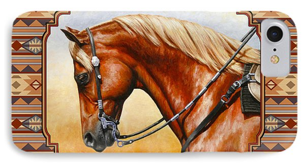 Southwestern Quarter Horse Pillow IPhone Case by Crista Forest
