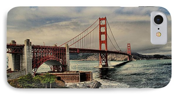Space Shuttle Endeavour Over Golden Gate Bridge IPhone Case by Movie Poster Prints