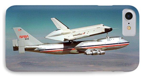 Space Shuttle Enterprise Piggyback Flight IPhone Case by Nasa