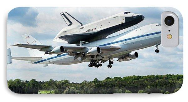 Space Shuttle Enterprise Piggyback Flight IPhone Case by Nasa/smithsonian Institution/mark Avino