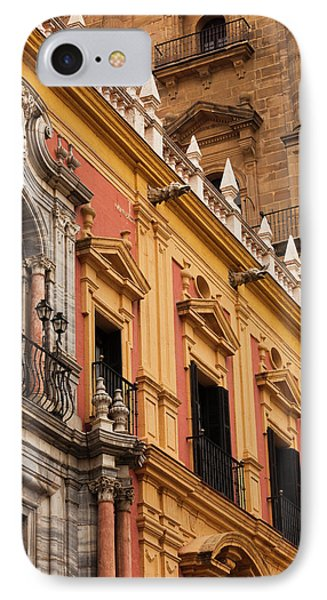 Spain, Andalucia Region, Malaga IPhone Case by Walter Bibikow