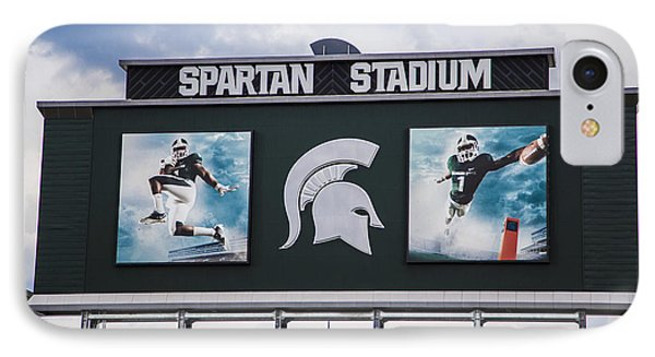 Spartan Stadium Scoreboard  IPhone 7 Case by John McGraw