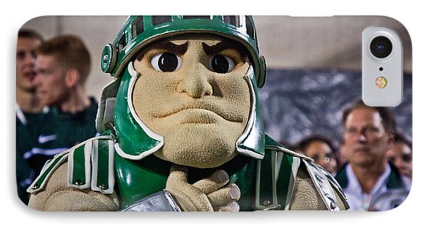 Sparty And Izzo National Anthem  IPhone 7 Case by John McGraw
