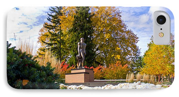 Sparty In Autumn  IPhone 7 Case by John McGraw