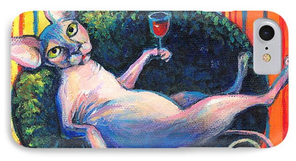 Sphynx Cat Relaxing IPhone 7 Case by Svetlana Novikova