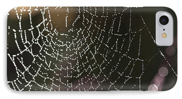 Spiderweb Green Phone Case by Artist and Photographer Laura Wrede