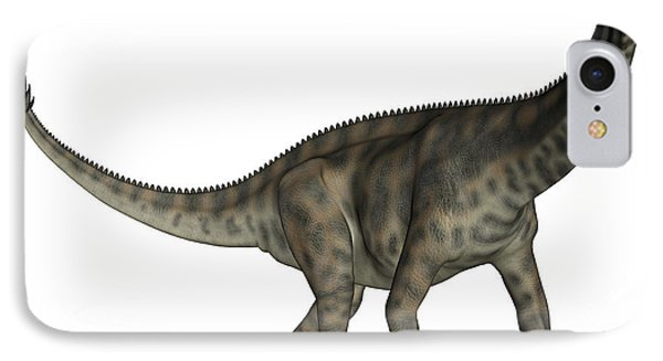 Spinophorosaurus Dinosaur IPhone Case by Elena Duvernay