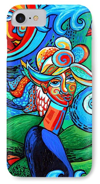Spiral Bird Lady IPhone Case by Genevieve Esson