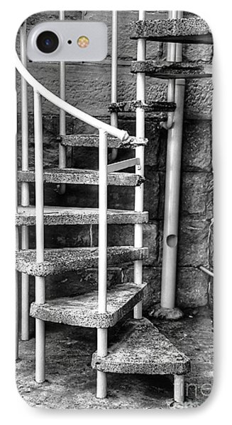 Spiral Steps - Old Sandstone Church Phone Case by Kaye Menner