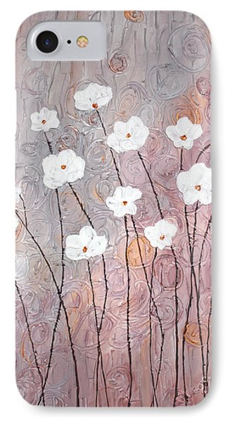 Spiral Whites Phone Case by Home Art