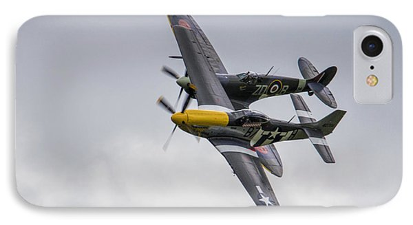 Spitfire And Mustang IPhone Case by J Biggadike