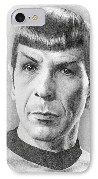 Spock - Fascinating Phone Case by Liz Molnar