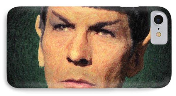 Spock IPhone Case by Taylan Apukovska