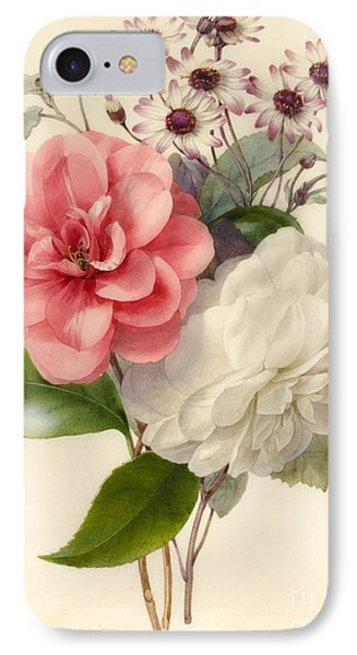 Spray Of Three Flowers IPhone Case by Marie Anne