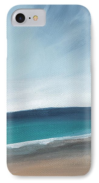 Spring Beach- Contemporary Abstract Landscape IPhone Case by Linda Woods