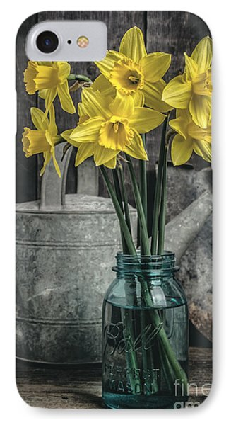 Spring Daffodil Flowers IPhone Case by Edward Fielding