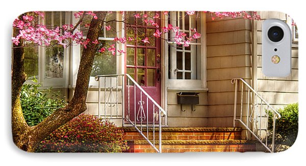Spring - Door - Dogwood  Phone Case by Mike Savad