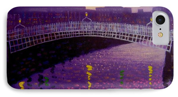 Spring Evening Ha Penny Bridge Dublin IPhone Case by John  Nolan