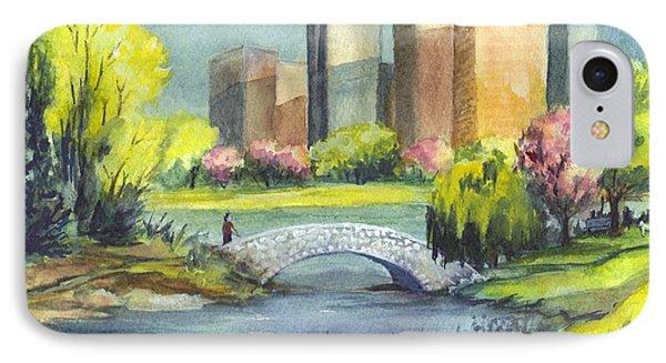 Spring  In Central Park N Y C  IPhone Case by Carol Wisniewski