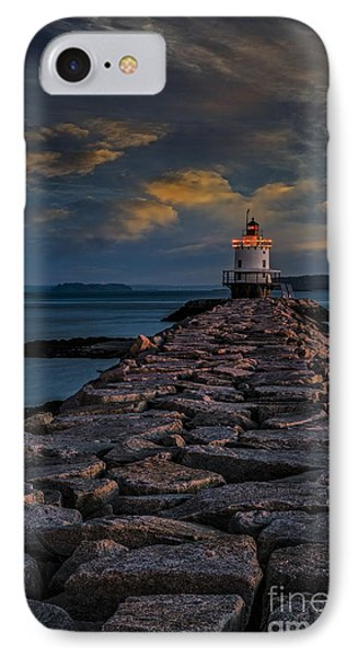 Spring Point Ledge Lighthouse IPhone Case by Susan Candelario