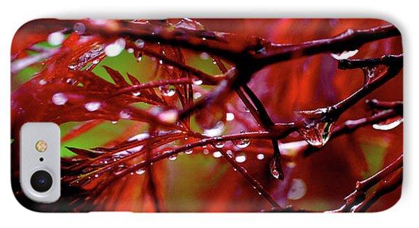 Spring Rain IPhone Case by Rona Black