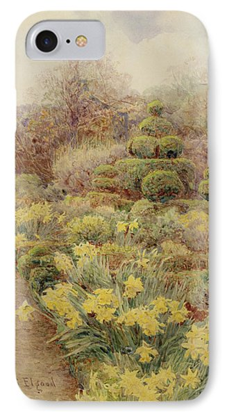 Spring   Raunds Cliffe IPhone Case by George Samuel Elgood