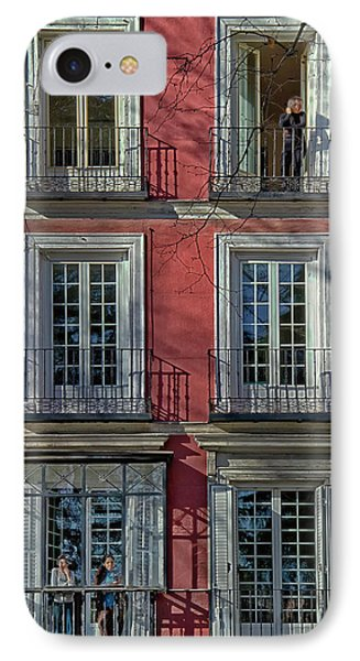 Spring Sunshine In Madrid IPhone Case by Joan Carroll