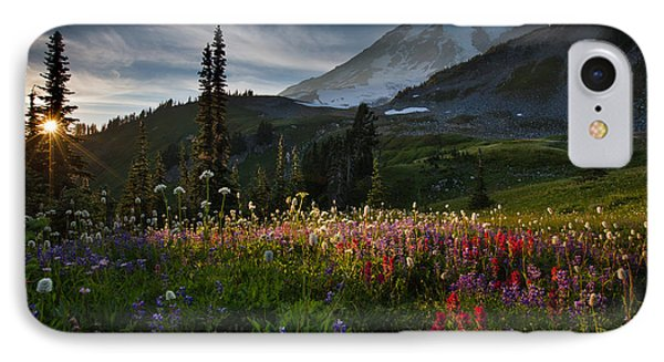 Spring Time At Mt. Rainier Washington IPhone Case by Larry Marshall