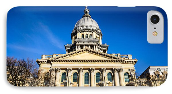 Springfield Illinois State Capitol Building Phone Case by Paul Velgos