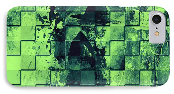 Square Mania - Old Man - Limeblue Phone Case by Emerico Imre Toth