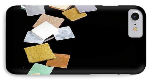 Squares Of Everyday Materials IPhone Case by Science Photo Library