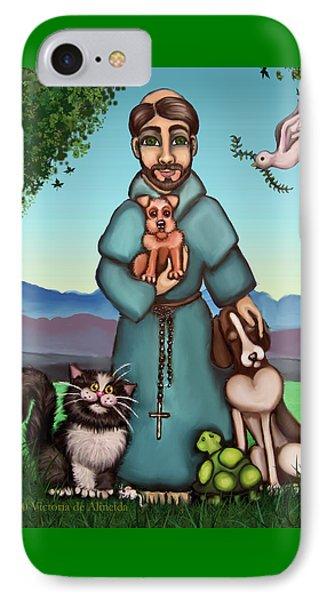 St. Francis Libertys Blessing Phone Case by Victoria De Almeida