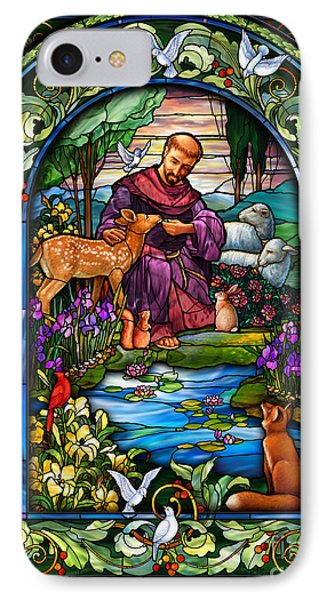 St. Francis Of Assisi IPhone Case by Randy Wollenmann