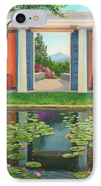 St Gaudens Water Lily Pond IPhone Case by Elaine Farmer