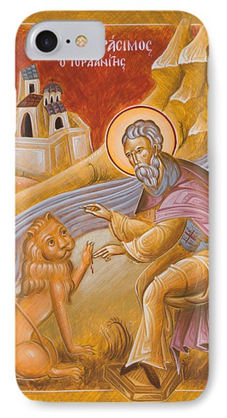 St Gerasimos Of The Jordan IPhone Case by Julia Bridget Hayes