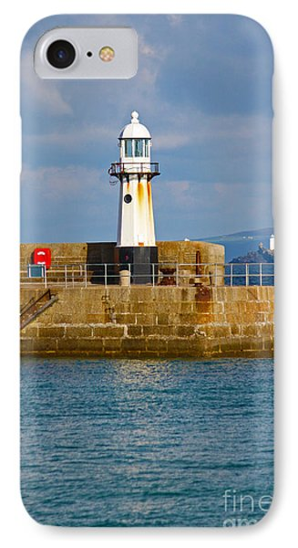 St Ives And Godrevy Lighthouses Cornwall Phone Case by Terri Waters