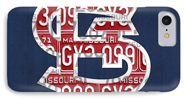 St. Louis Cardinals Baseball Vintage Logo License Plate Art IPhone Case by Design Turnpike