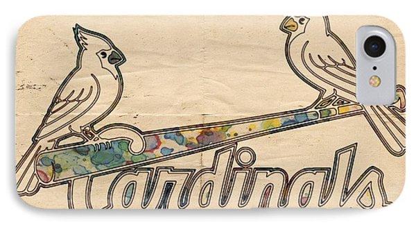 St Louis Cardinals Poster Art IPhone 7 Case by Florian Rodarte