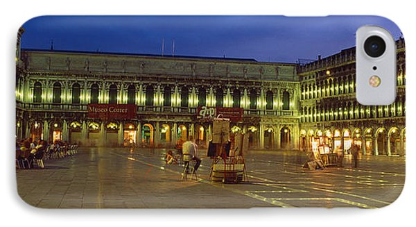 St. Marks Square Lit Up At Night IPhone Case by Panoramic Images