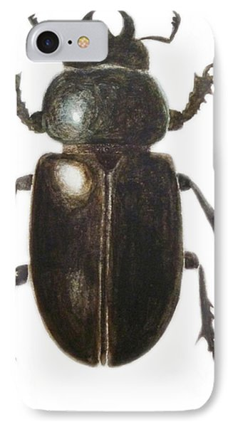 Stag Beetle IPhone Case by Ele Grafton