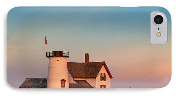 Stage Harbor Lighthouse Square IPhone Case by Bill Wakeley
