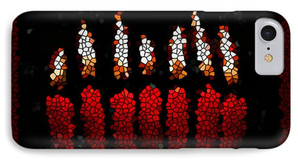 Stained Glass Candle Phone Case by Lanjee Chee