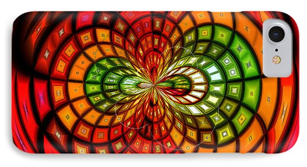 Stained Glass Fruit Salad IPhone Case by Shawna Rowe