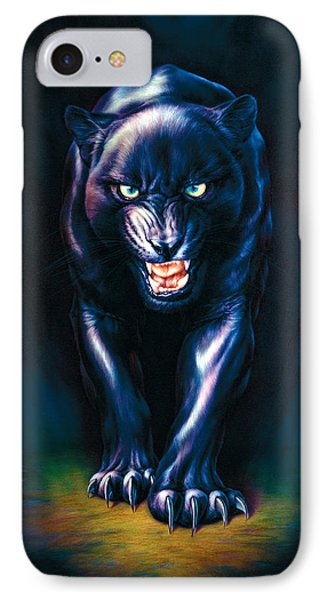 Stalking Panther IPhone Case by Andrew Farley