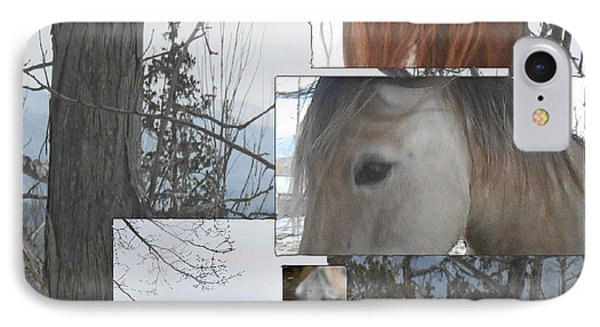 Stallions Collage There Is A Connection Phone Case by Patricia Keller