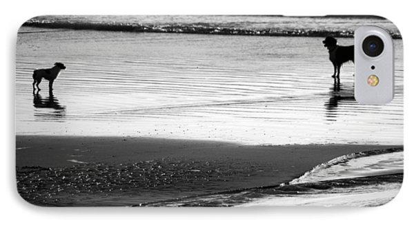 Standoff At The Beach IPhone Case by Aidan Moran